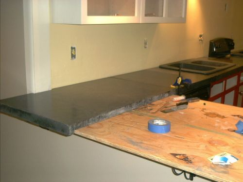 kitchen countertops - concrete countertop over plywood. - our photos